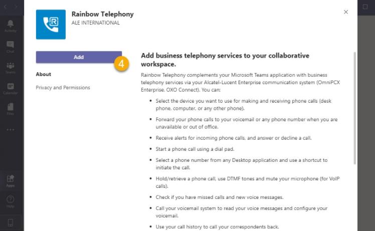 Rainbow telephony