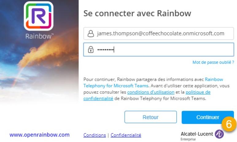 Connection Rainbow telephony
