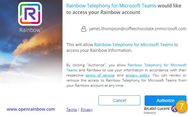 Accès à Rainbow